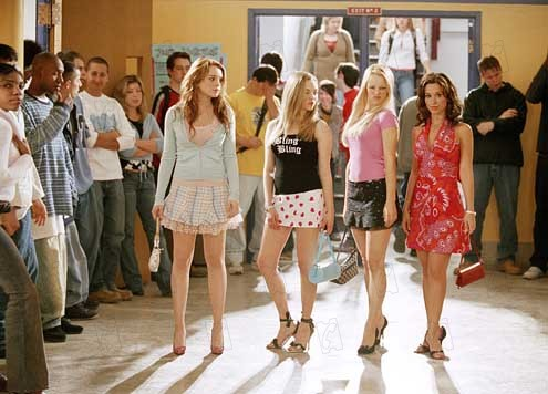 Girls Club : Bild Amanda Seyfried, Lacey Chabert, Lindsay Lohan, Mark Waters, Rachel McAdams