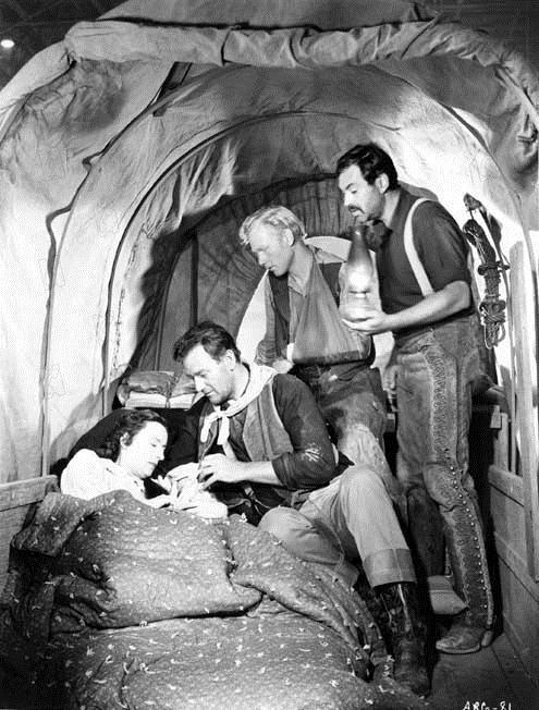 Spuren im Sand : Bild Harry Carey Jr., John Ford, John Wayne, Mildred Natwick