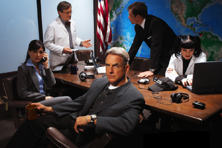 Navy CIS : Bild David McCallum, Mark Harmon, Michael Weatherly, Pauley Perrette, Sasha Alexander