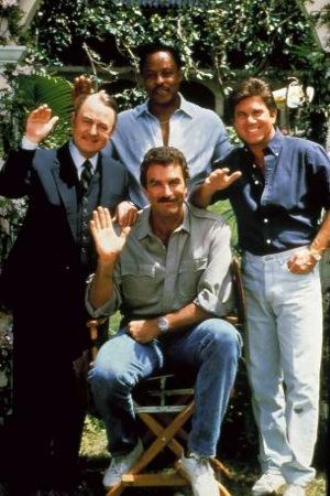 Magnum : Bild John Hillerman, Larry Manetti, Roger E. Mosley, Tom Selleck