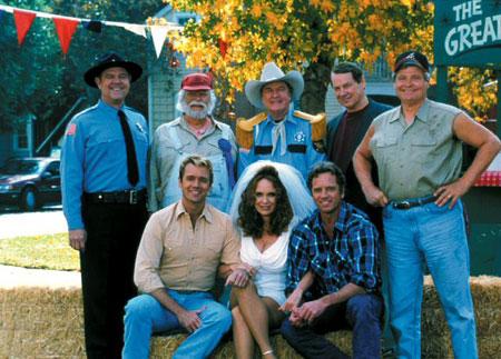 Ein Duke kommt selten allein : Bild Ben Jones, Catherine Bach, Denver Pyle, James Best, John Schneider