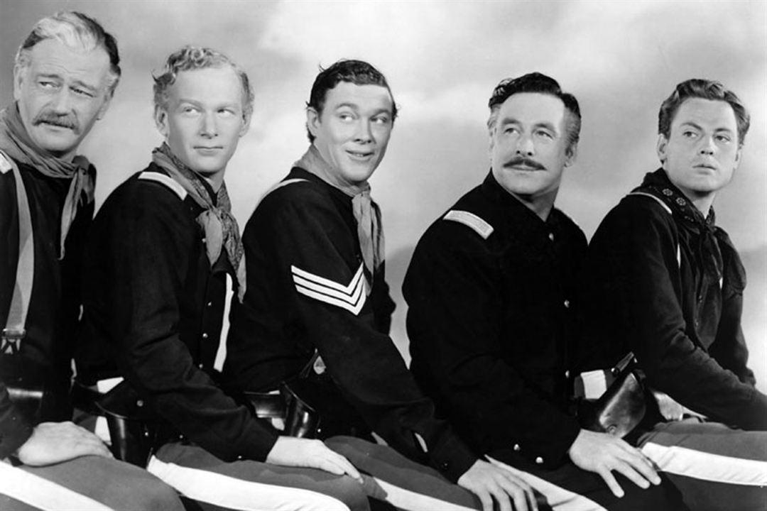 Der Teufelshauptmann : Bild Harry Carey Jr., John Agar, John Ford, John Wayne