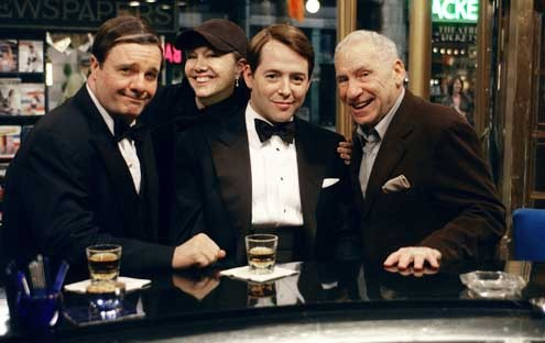 The Producers : Bild Matthew Broderick, Mel Brooks, Nathan Lane, Susan Stroman