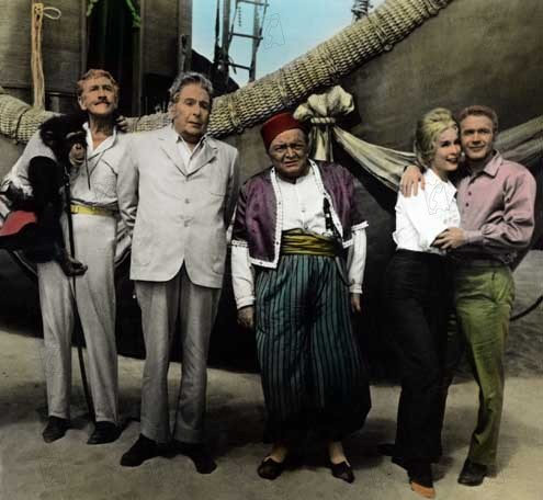 Bild Barbara Eden, Cedric Hardwicke, Irwin Allen, Peter Lorre, Red Buttons