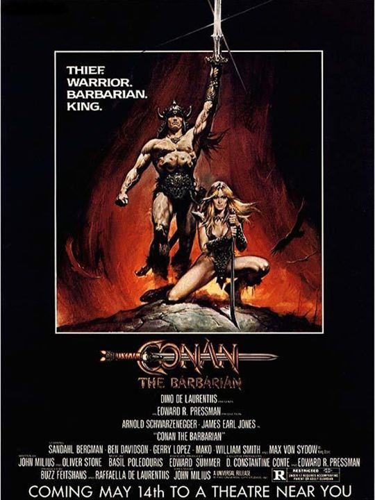 Conan - Der Barbar : Kinoposter Arnold Schwarzenegger, John Milius, Robert E. Howard