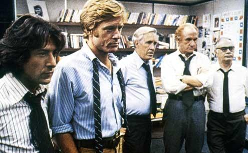 Die Unbestechlichen : Bild Alan J. Pakula, Dustin Hoffman, Robert Redford
