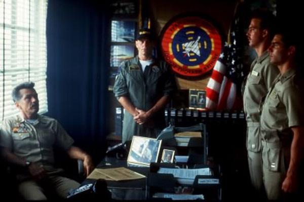 Top Gun : Bild Anthony Edwards, Michael Ironside, Tom Cruise, Tom Skerritt
