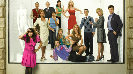 Ugly Betty : Bild Alan Dale, America Ferrera, Ana Ortiz, Ashley Jensen, Becki Newton