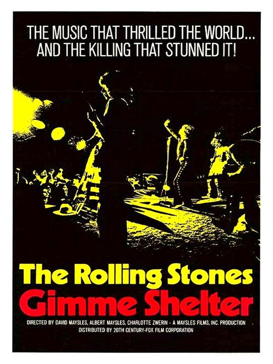 Rolling Stones on Tour: Gimme Shelter : Kinoposter