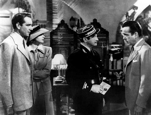 Casablanca : Bild Claude Rains, Humphrey Bogart, Ingrid Bergman, Michael Curtiz
