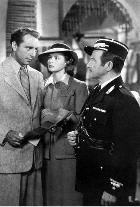 Casablanca : Bild Claude Rains, Ingrid Bergman, Michael Curtiz, Paul Henreid