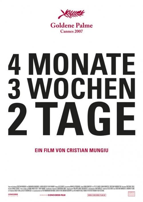 4 Monate, 3 Wochen und 2 Tage : Kinoposter