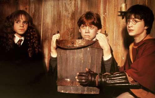 Harry Potter und die Kammer des Schreckens : Bild Daniel Radcliffe, Emma Watson, Rupert Grint