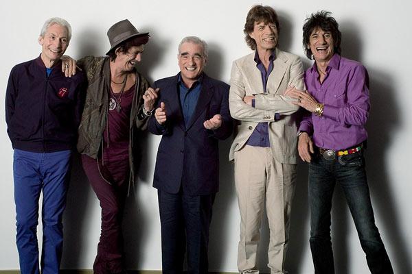 Shine a Light : Bild Charlie Watts, Keith Richards, Martin Scorsese, Mick Jagger, Ron Wood