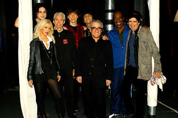 Shine a Light : Bild Charlie Watts, Christina Aguilera, Keith Richards, Martin Scorsese, Mick Jagger