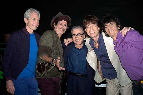 Shine a Light : Bild Charlie Watts, Keith Richards, Martin Scorsese, Mick Jagger, Ron Wood