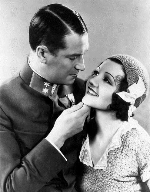 Der lächelnde Leutnant : Bild Claudette Colbert, Maurice Chevalier