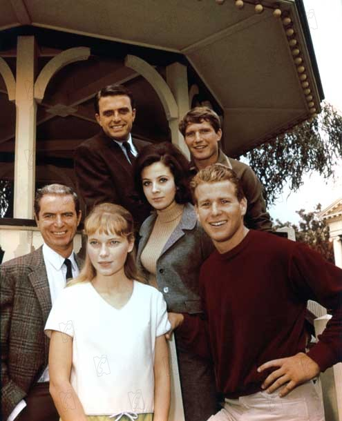 Bild Barbara Parkins, Christopher Connelly, Ed Nelson, Mia Farrow, Ryan O'Neal