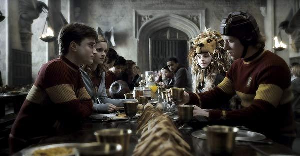 Harry Potter und der Halbblutprinz : Bild Daniel Radcliffe, Emma Watson, Evanna Lynch, Rupert Grint