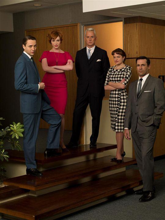 Mad Men : Bild Christina Hendricks, Elisabeth Moss, John Slattery, Jon Hamm, Vincent Kartheiser