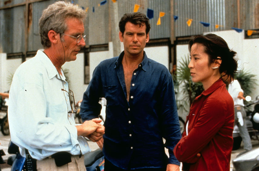 James Bond 007 - Der Morgen stirbt nie : Bild Michelle Yeoh, Pierce Brosnan, Roger Spottiswoode