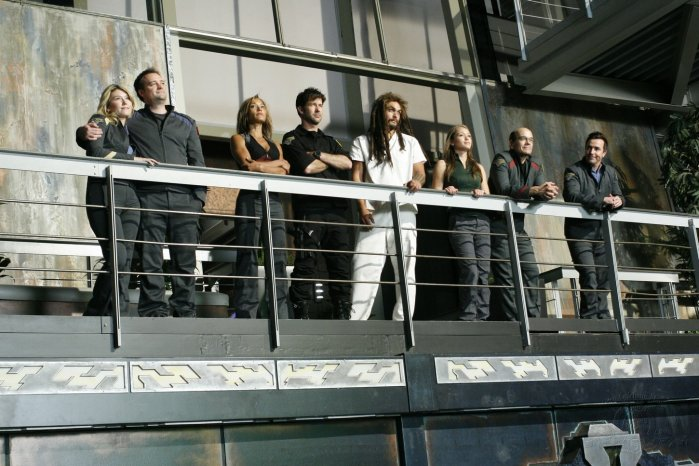 Stargate Atlantis : Bild David Hewlett, Jason Momoa, Jewel Staite, Joe Flanigan, Paul McGillion