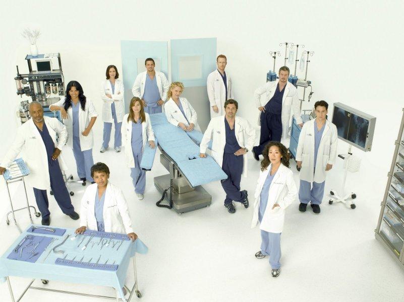 Grey's Anatomy - Die jungen Ärzte : Bild Chandra Wilson, Chyler Leigh, Ellen Pompeo, Eric Dane, James Pickens Jr.