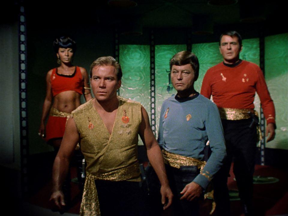 Raumschiff Enterprise : Bild DeForest Kelley, James Doohan, Nichelle Nichols, William Shatner