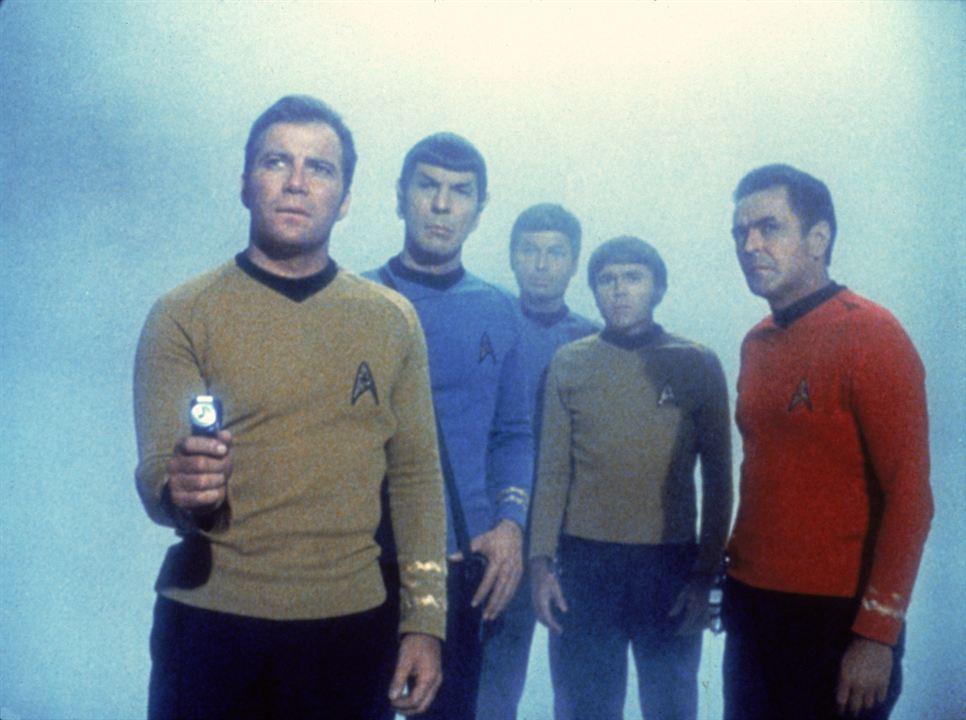 Raumschiff Enterprise : Bild DeForest Kelley, James Doohan, Leonard Nimoy, Walter Koenig, William Shatner