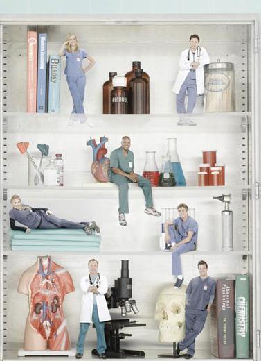 Scrubs - Die Anfänger : Bild Dave Franco, Donald Faison, Eliza Coupe, John C. McGinley, Kerry Bishe