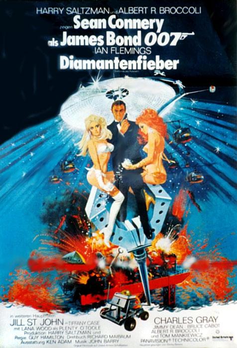 poster zum james bond 007 diamantenfieber bild 1. Black Bedroom Furniture Sets. Home Design Ideas