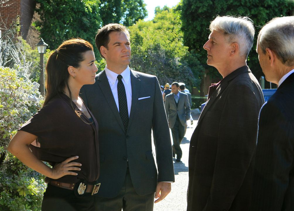 Bild Cote De Pablo, Joe Spano, Mark Harmon, Michael Weatherly