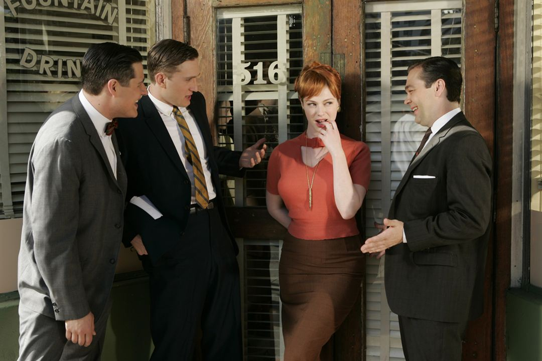 Mad Men : Bild Aaron Staton, Bryan Batt, Christina Hendricks, Rich Sommer