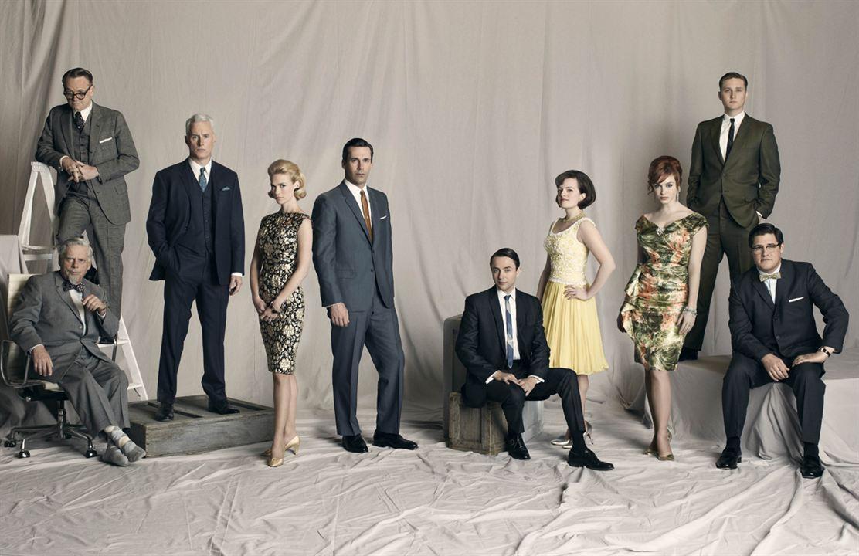 Mad Men : Bild Aaron Staton, Christina Hendricks, Elisabeth Moss, January Jones, Jared Harris