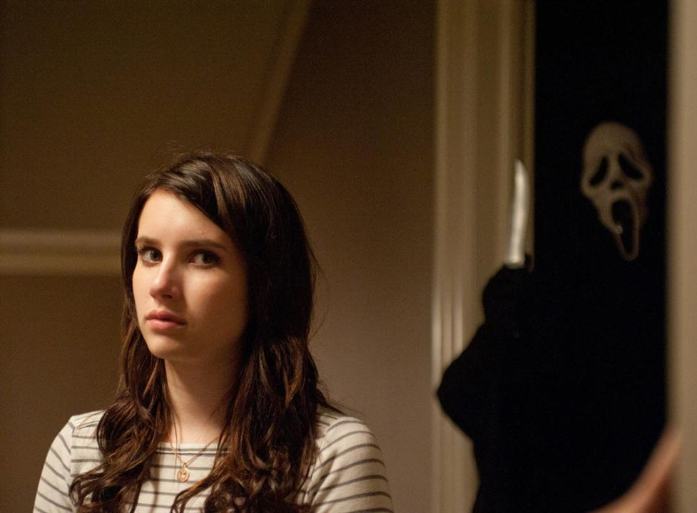 Scream 4 : Bild Emma Roberts, Wes Craven