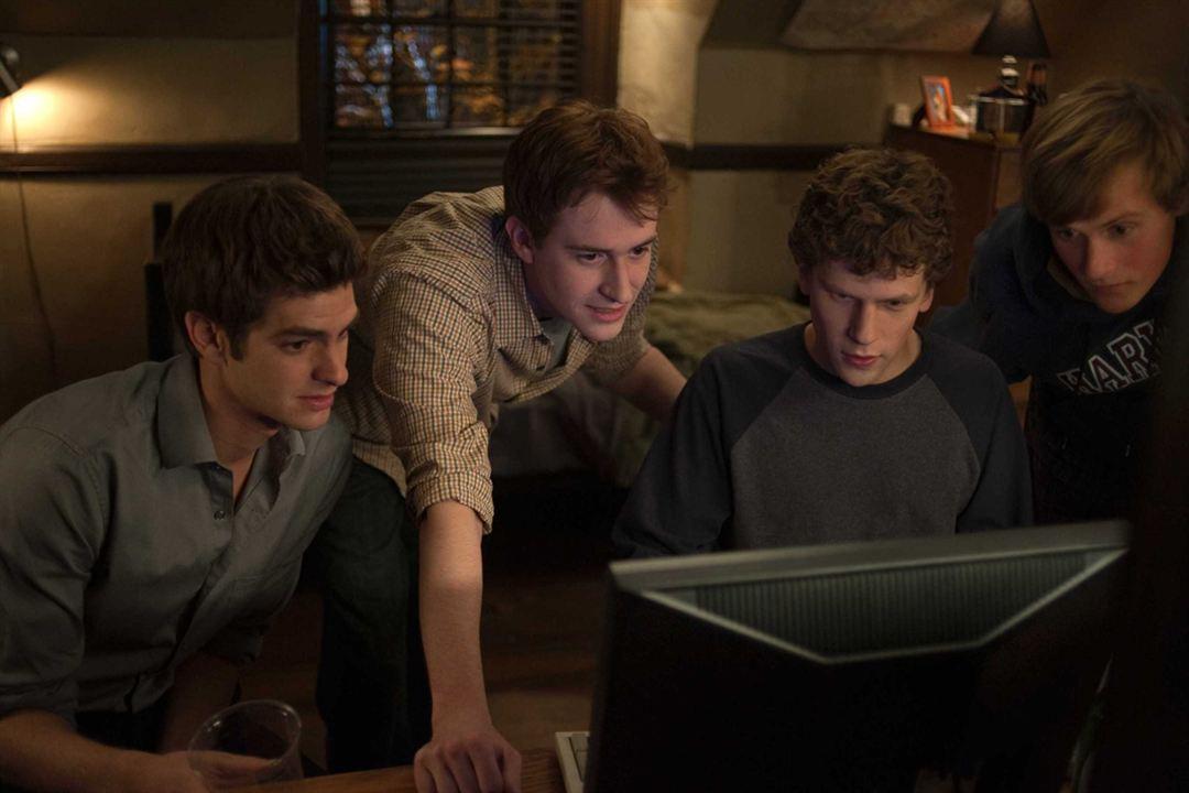 The Social Network : Bild Andrew Garfield, Jesse Eisenberg, Joseph Mazzello