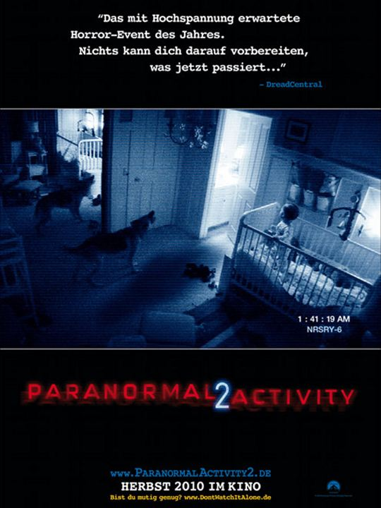 Paranormal Activity 2 : Kinoposter