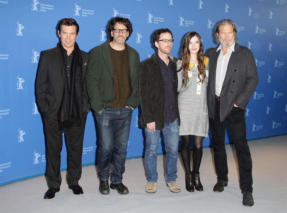 True Grit : Bild Ethan Coen, Hailee Steinfeld, Jeff Bridges, Joel Coen, Josh Brolin