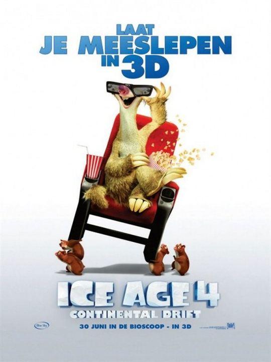 Ice Age 4 - Voll verschoben : Kinoposter