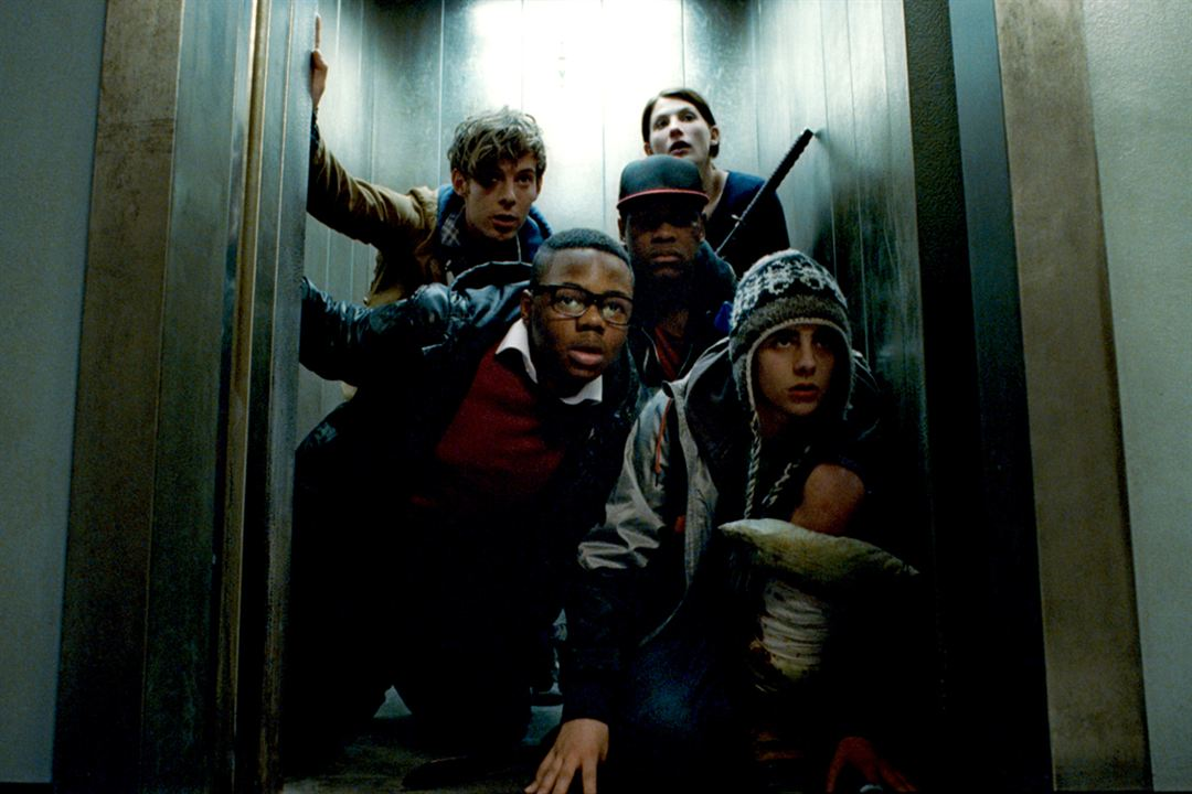 Attack The Block : Bild Alex Esmail, Jodie Whittaker, Joe Cornish, John Boyega, Leeon Jones