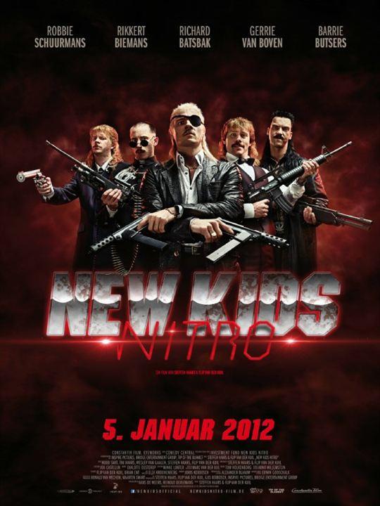 New Kids Nitro : Kinoposter Flip Van der Kuil, Huub Smit, Steffen Haars, Tim Haars, Wesley van Gaalen