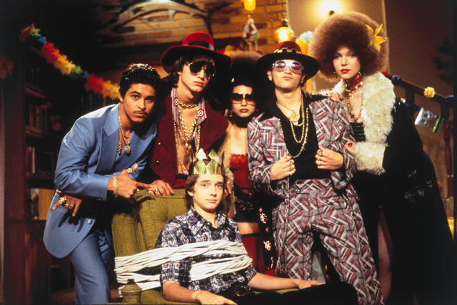Die wilden Siebziger : Bild Ashton Kutcher, Danny Masterson, Laura Prepon, Mila Kunis, Topher Grace