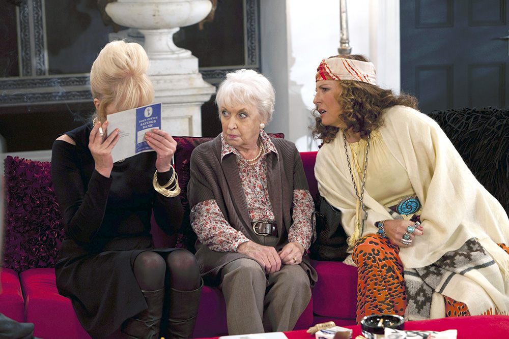 Bild Jennifer Saunders, Joanna Lumley, June Whitfield