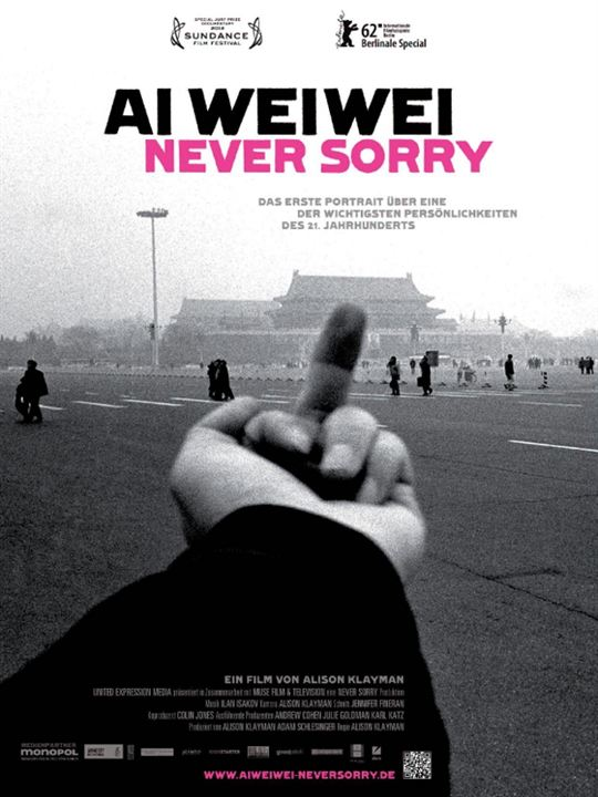 Ai Weiwei Never Sorry Kinoposter