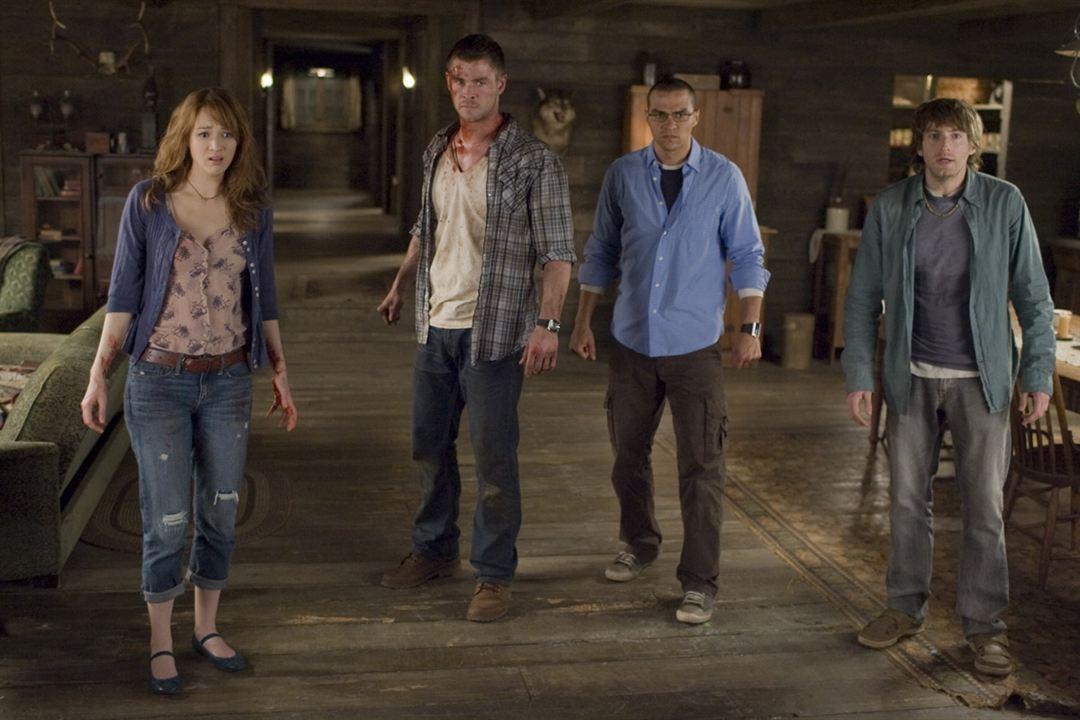 The Cabin in the Woods : Bild Chris Hemsworth, Fran Kranz, Jesse Williams, Kristen Connolly