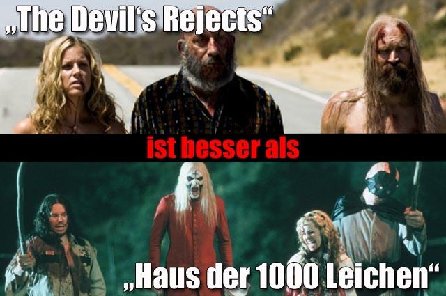"""The Devil's Rejects"" (3 Sterne) Vs. ""Haus der 1000 Leichen"" (2 Sterne)"