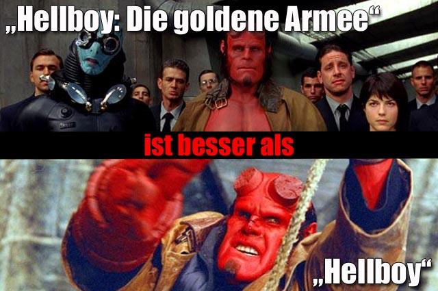 """""""Hellboy: Die goldene Armee"""" (3,5 Sterne) Vs. """"Hellboy"""" (3 Sterne)"""