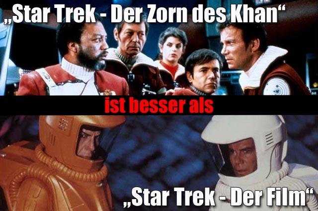 """""""Star Trek - Der Zorn des Khan"""" (4 Sterne) Vs. """"Star Trek - Der Film"""" (3 Sterne)"""