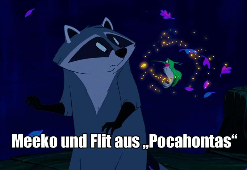 """Meeko und Flit aus """"Pocahontas"""""""