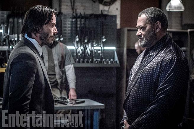 """Die """"Matrix""""-Stars Keanu Reeves und Laurence Fishburne in """"John Wick 2"""""""